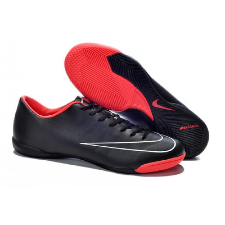 Футзалки Nike mercurial, черный с красным